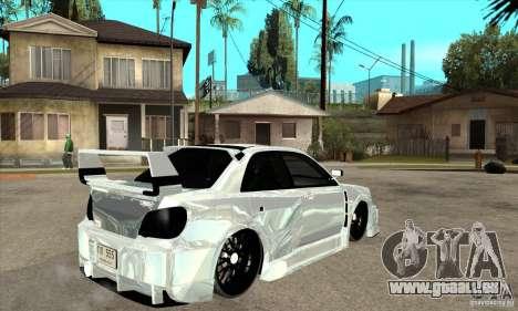 Subaru Impreza Tunned pour GTA San Andreas vue de droite