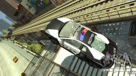 Lamborghini Reventon Police Hot Pursuit pour GTA 4 est une vue de l'intérieur