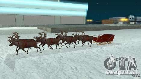 Ist Santa's team für GTA San Andreas zurück linke Ansicht