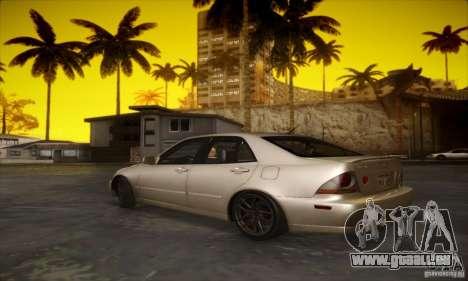 Lexus IS 300 pour GTA San Andreas vue de droite
