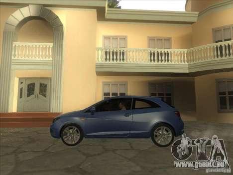 Seat Ibiza 2008 pour GTA San Andreas sur la vue arrière gauche
