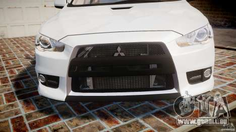 Mitsubishi Lancer Evolution X für GTA 4 Seitenansicht