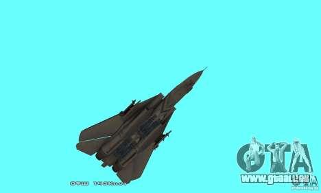 F14W Super Weirdest Tomcat Skin 1 pour GTA San Andreas vue de dessous