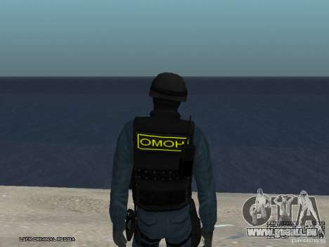 Agent de POLICE d'émeute pour GTA San Andreas cinquième écran