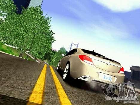 Opel Insignia pour GTA San Andreas sur la vue arrière gauche