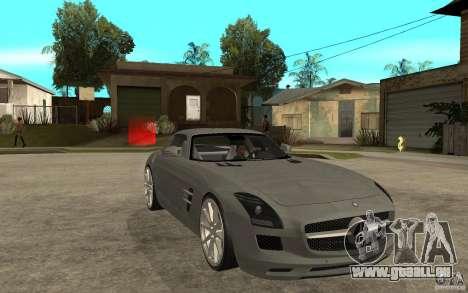 Mercedes-Benz SLS für GTA San Andreas Rückansicht