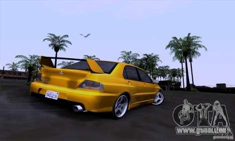 Mitsubishi Lancer Evolution IX 2006 pour GTA San Andreas vue intérieure