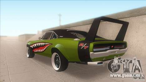 Dodge Charger RT SharkWide für GTA San Andreas zurück linke Ansicht