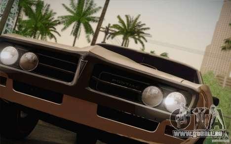 Pontiac Firebird 400 (2337) 1968 pour GTA San Andreas sur la vue arrière gauche