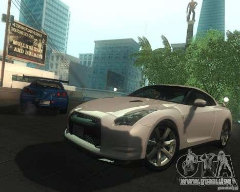 Nissan GTR R35 Spec-V 2010 Stock Wheels pour GTA San Andreas salon