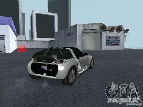 Smart Roadster Coupe für GTA San Andreas zurück linke Ansicht