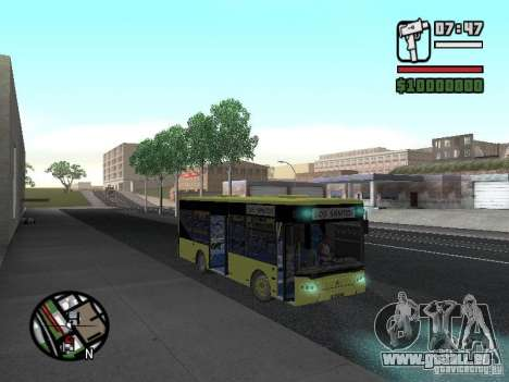 A099 LAZ (SitiLAZ 8) pour GTA San Andreas vue arrière