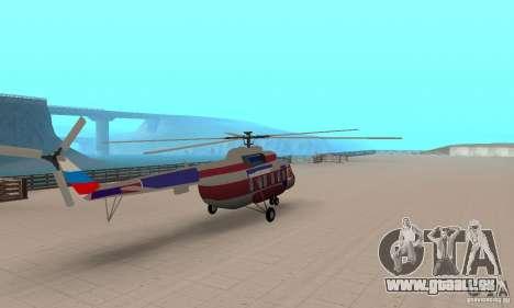 MI-17 zivil (Deutsch) für GTA San Andreas linke Ansicht