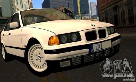 BMW E36 320i pour GTA San Andreas vue de dessus