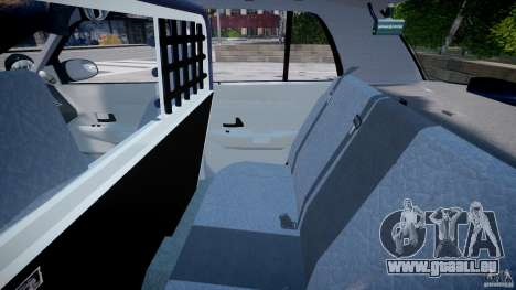 Ford Crown Victoria SFPD K9 Unit [ELS] pour GTA 4 Vue arrière