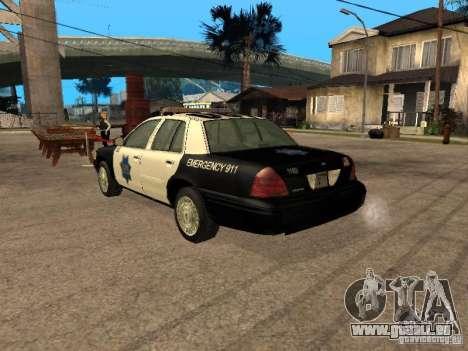 Ford Crown Victoria 2003 Police pour GTA San Andreas laissé vue