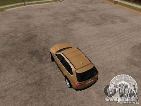 BMW X5 E70 pour GTA San Andreas sur la vue arrière gauche