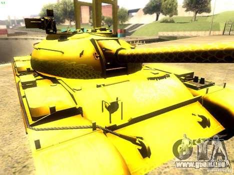 Type 59 v1 pour GTA San Andreas vue intérieure