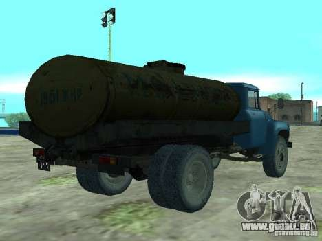 Camion-citerne de lait ZIL 130 pour GTA San Andreas sur la vue arrière gauche
