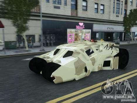 HQ Batman Tumbler pour GTA 4 Vue arrière de la gauche