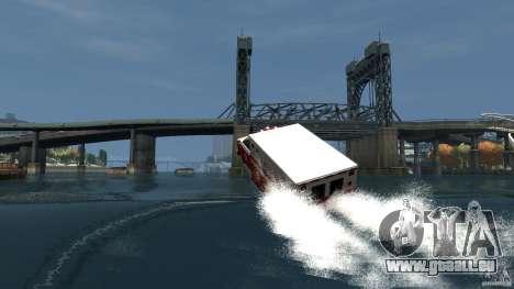 Ambulance boat pour GTA 4 vue de dessus