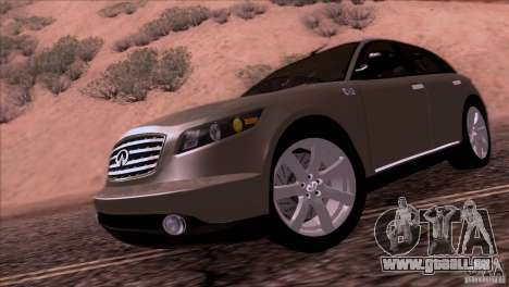 Infiniti FX45 2007 für GTA San Andreas zurück linke Ansicht