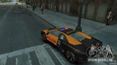Lamborghini Reventon Police Hot Pursuit pour GTA 4 est un droit