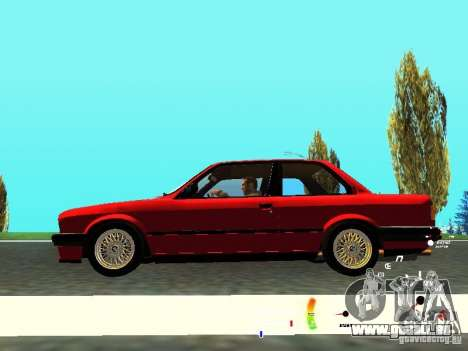 BMW E30 87-91 für GTA San Andreas Innenansicht