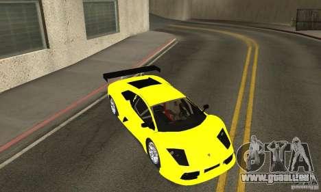 Lamborghini Murcielago R GT pour GTA San Andreas vue de dessus