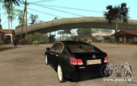 Lexus GS430 2007 pour GTA San Andreas sur la vue arrière gauche