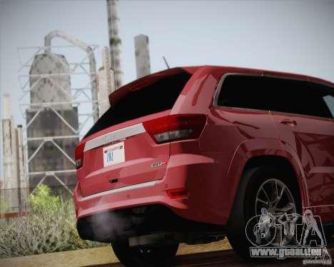 Jeep Grand Cherokee SRT-8 2012 pour GTA San Andreas vue de côté