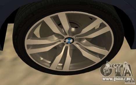 BMW X5 M 2009 pour GTA San Andreas vue de droite