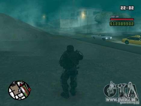 Stalker militaire en èkzoskelete pour GTA San Andreas troisième écran