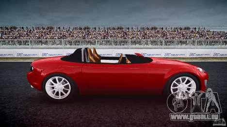 Mazda Miata MX5 Superlight 2009 pour GTA 4 est une vue de l'intérieur