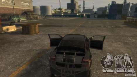 Dodge Charger Fast Five pour GTA 4 est une vue de l'intérieur
