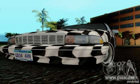 Chevrolet Caprice 1991 pour GTA San Andreas vue de dessous