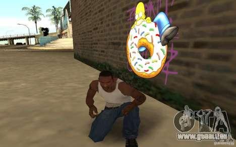 Homer Graffiti Mod für GTA San Andreas dritten Screenshot
