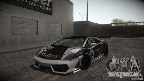Lamborghini Gallardo LP560-4 GT3 pour GTA San Andreas vue de côté