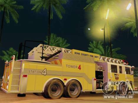 Pierce Arrow XT BCFD Tower Ladder 4 für GTA San Andreas Innen