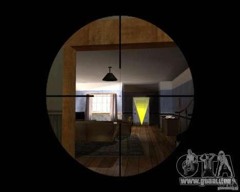 Fusil AS 50 pour GTA San Andreas troisième écran