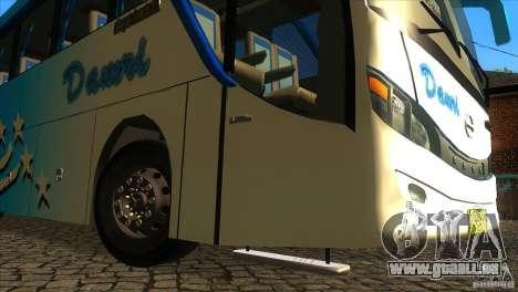Hino New Travego RK1 pour GTA San Andreas vue de côté