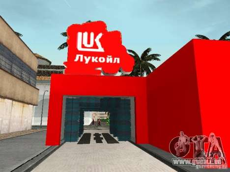 Der Lukoil Tankstelle für GTA San Andreas siebten Screenshot