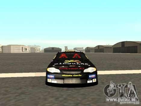 Chevrolet Monte Carlo Nascar CINGULAR Nr.31 pour GTA San Andreas vue arrière