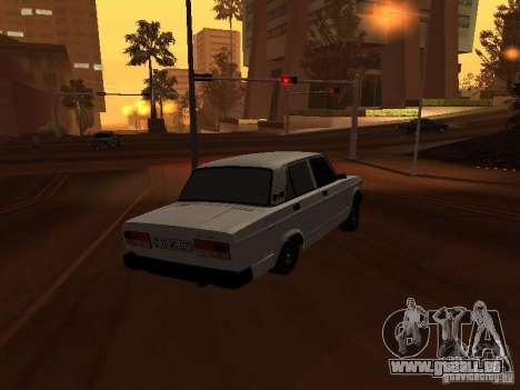 VAZ 2107 plein azéri pour GTA San Andreas sur la vue arrière gauche