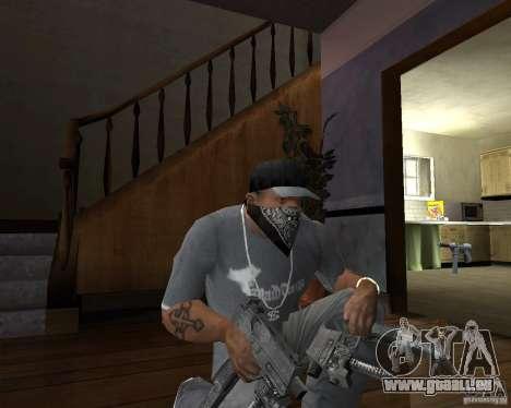 Kedr pp-91 pour GTA San Andreas deuxième écran