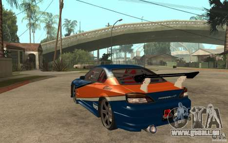 Nissan Silvia Drift für GTA San Andreas zurück linke Ansicht