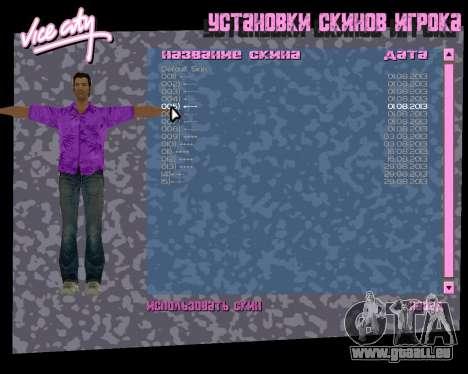 Chemise violette pour le quatrième écran GTA Vice City