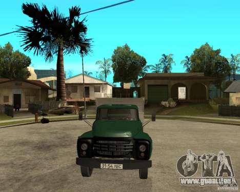 Camion à benne basculante 133 ZIL pour GTA San Andreas vue arrière