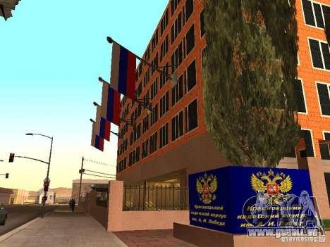 Corps de cadets de Krasnoïarsk pour GTA San Andreas troisième écran