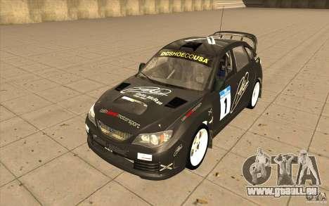 Subaru Impreza WRX STi avec unique nouveau vinyl pour GTA San Andreas